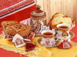 Tea and typical Russian sweets