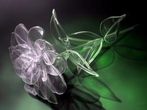 A crystal flower