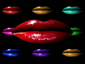 Lips of different colors