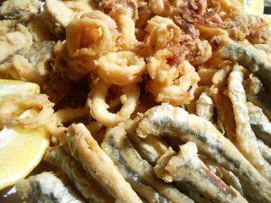 "Andalusian dish of ""pescaito frito"""