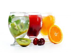 Juices of kiwi, cherry and orange