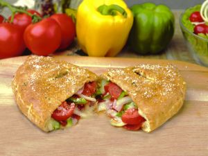 Calzone of vegetables