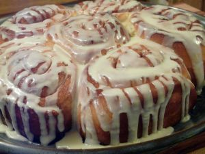 Cinnamon rolls with coverage