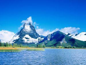 The summit of the Matterhorn hidden by a cloud
