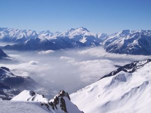 The Alps snow covered