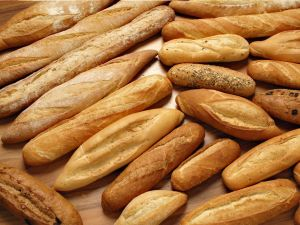 Several types of bread