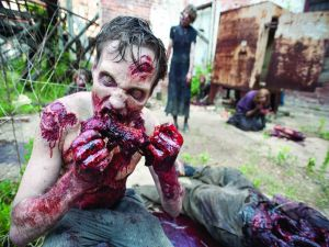 Hungry zombies in The Walking Dead