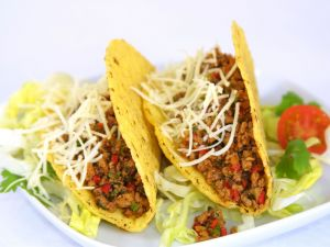 Tacos with beef