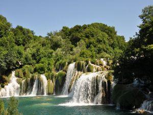 Waterfalls in the Krka river, Slovenia