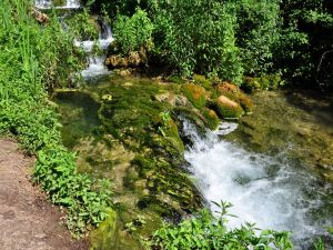 Waterfalls in the course of the river Krka, Slovenia
