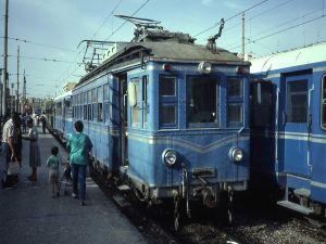 Old electric train (Valencia, Spain, 1987)