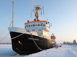 Icebreaker Stephan Jantzen in the city of Rostock (Germany)