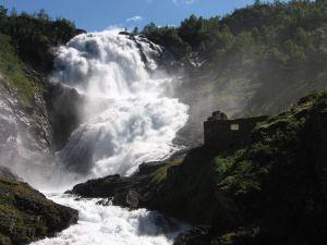 Kjosfossen waterfall (Norway)