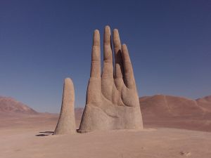"The ""Mano del desierto"", sculpture near of Antofagasta (Chile)"