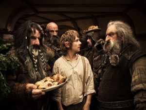 Invasion and banquet of the Dwarves at Bilbo's house