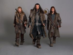 "Thorin, Fili and Kili in ""The Hobbit: An Unexpected Journey"""