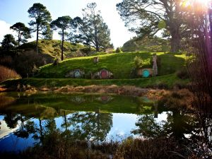 The Shire, where the hobbits live