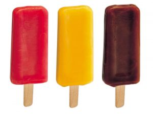 Flavored popsicles