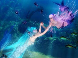 Sisters mermaids