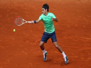 Roger Federer, playing the final of the 2013 Rome Masters