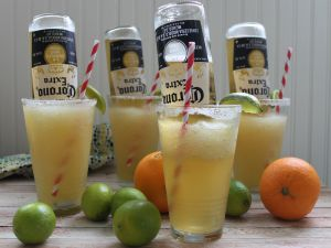 Cocktails with citrus and Corona beer