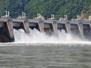 Dam of the Iron Gates on the Danube River (Serbia-Romania)