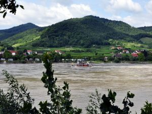 Austrian valley of Wachau, formed by the Danube River