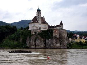 Castle Schoenbuehel (Schloss Schönbühel), on the bank of the Danube river