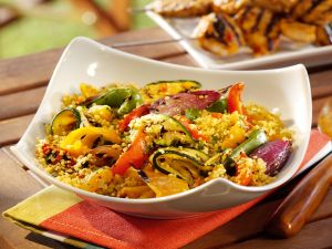 Couscous, Moroccan food with vegetables