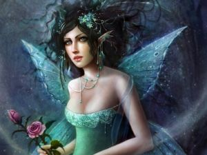Fairy with two roses