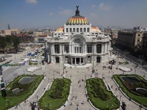 The Palacio de Bellas Artes (Palace of Fine Arts) in Mexico City