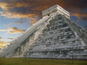 Maya Pyramid or Temple of Kukulkan, Yucatan
