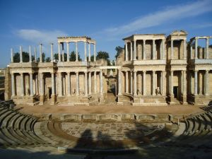 Roman amphitheatre of Merida, Spain