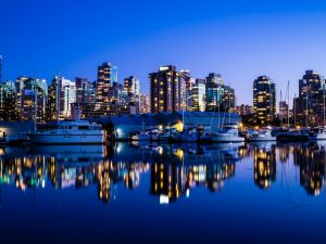 Vancouver at night (Canada)