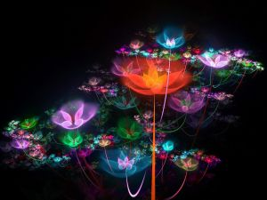 Luminous flowers