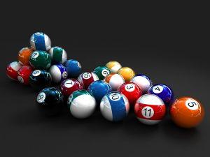 Glossy billiard balls