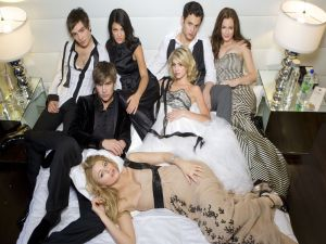"Protagonists of the series ""Gossip Girl"""