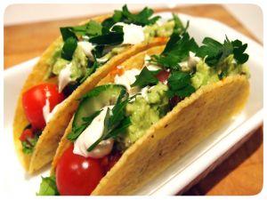 Tacos with guacamole