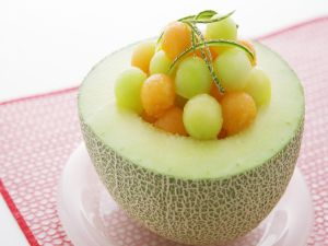 Healthy dessert of melon