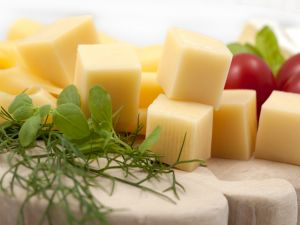 Cheese cubes to nibble