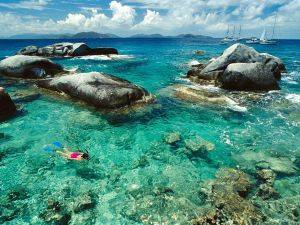 Snorkeling at the Baths, British Virgin Islands
