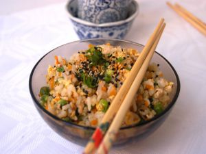 Bowl with chinese rice