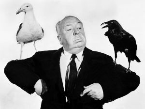 "Alfred Hitchcock and his ""birds"""