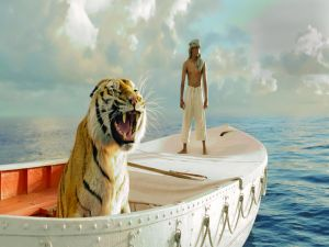 Pi and the tiger Richard Parker (Life of Pi)