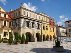 Market Square in Tarnów, Poland