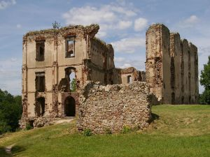 Ruins of the castle in Bodzentyn, Poland
