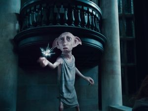 Dobby, an elf from the Harry Potter saga