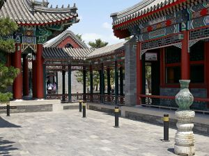 An inner courtyard of Wenchang Gallery, in the Summer Palace complex in Beijing, China