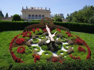 Flowers clock in Stadtpark, Vienna