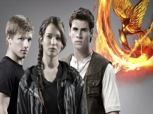 "The young stars of ""The Hunger Games"""